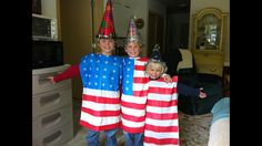 American Flag Costume.  3 Pillow cases, red duct tape, blue duct tape, star stencil. Done! Sibling costume