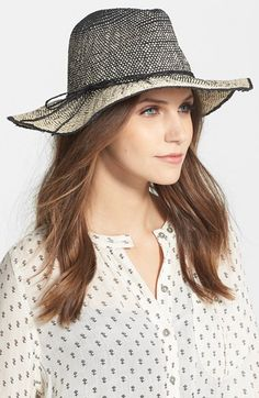 Hinge Two Tone Panama Hat available at #Nordstrom
