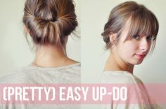 easy casual up do (need to find something to stop me from putting my hair in a plain ponytail for work every day)