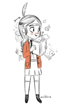 Andrea Fernández: @Sketch_Dailies To say I lived in my own world as a kid is understatement.