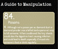 A Guide to Manipulation...but I'm pretty sure you can do this with glass too...
