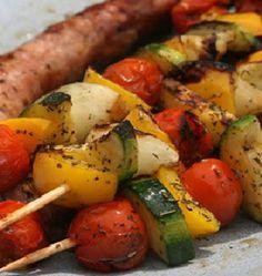 Skewers recipe pickled vegetables #BBQ  www.foodandcooking.net/skewers-recipe-pickled-vegetables/