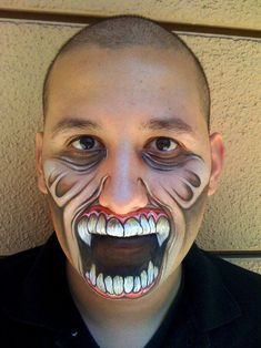 Wow!!!! Amazing Halloween Makeup facepainting face paint