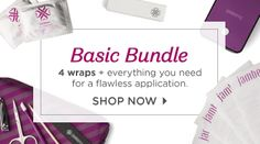 Basic Bundle - 4 sheets of wraps of your choice, the application kit, and mini heater. Everything you need to get flawless DIY nailart! #nailart #manicure #jamberry