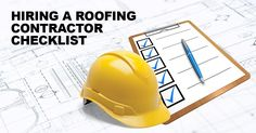 Hiring A Roofing Contractor Checklist #Roofing #Roofers