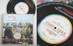 Rock-n-Roll wedding invitation idea | Invite by Prim  http://www.100layercake.com/blog/2013/03/08/60s-rock-n-roll-wedding-inspiration/
