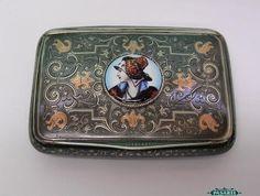 Austro-Hungarian Silver Gold Inlaid & Niello Cigarette Case Vienna Ca 1890 #Vienna