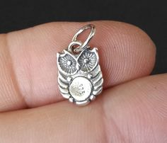 925 Sterling Silver Bird Owl Necklace Pendant Charms $3.15