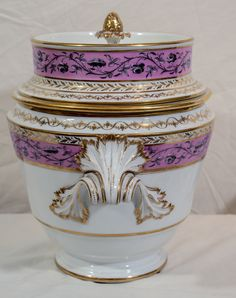 A Pair of 18th Century Cligancourt Porcelain Ice Pails | From a unique collection of antique and modern vases at http://www.1stdibs.com/furniture/dining-entertaining/vases/