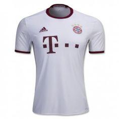 16-17 Bayern Munich Away White Thailand Fans Soccer Jersey