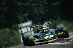 Ronnie Peterson, Lotus 72E, on his way to victory, Dijon-Prenois 1974. This was Ronnie's second win of the season and the 72's penultimate victory of a long career...