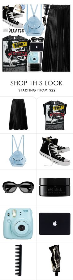 """."" by makeupgoddess ❤ liked on Polyvore featuring Comme des Garçons GIRL, MANU Atelier, Converse, KAROLINA, Acne Studios, arbÅ«, Fujifilm, GHD, All Black and Aesop"