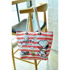 Peanuts Snoopy Woodstock Canvas Tote Bag