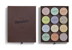 vintage chocolate packaging design