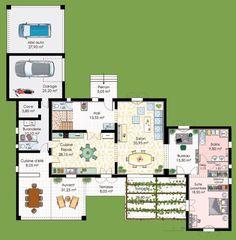 Plan Maison Avec suite parentale