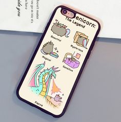 Pusheen The Cat Legend Printed Soft Rubber Mobile Phone Cases For iPhone 6 6S Plus 7 7 Plus 5 5S 5C SE 4S Back Shell Cover
