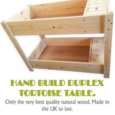 Highest quality tortoise tables for sale in the UK. Hand built from best quality natural wood & finest fittings, no attention to detail is spared. We can make any size or style tortoise table to order. Red Footed Tortoise, Baby Tortoise, Sulcata Tortoise, Tortoise Care, Giant Tortoise, Tortoise House, Tortoise Table For Sale, Tortoise Enclosure, Turtle Enclosure