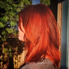 """Gorgeous #dimensionalcopper on @andiipoo today. The last fun color of 2014! Let's see what 2015 has to offer us  #redkenready #styleyourstory…"""