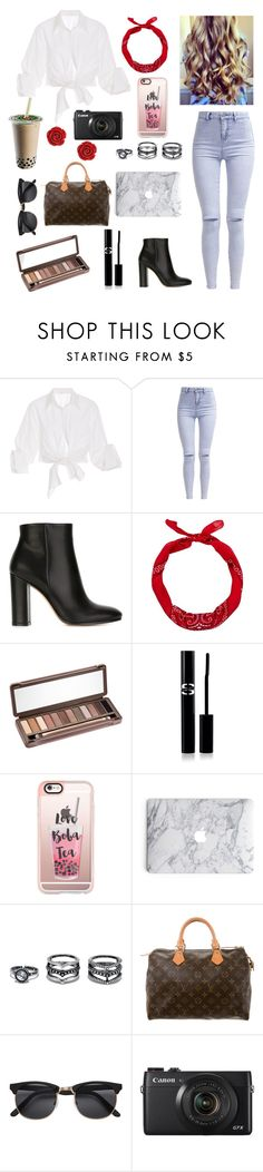 """Mia Stammer inspired outfit"" by emily-colquitt ❤ liked on Polyvore featuring Johanna Ortiz, New Look, Gianvito Rossi, Urban Decay, Sisley Paris, Casetify, LULUS, Louis Vuitton and Bling Jewelry"