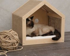 Comfortable pet cottage from eco friendly materials Small dog box Puppy furniture Сozy cat place Cat Teepee, Cat Hammock, Cat Pillow, Pet Furniture, Furniture Market, Outdoor Dog, Animal House, Soft Pillows, Diy Stuffed Animals
