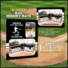 2017 Baseball Memory Mate Template For Photoshop SLUGGER. Easy to use. Team Usa Basketball, Basketball Court Layout, Baseball Pictures, Sports Pictures, Baseball Card Template, Baseball Cards, Player Card, Baseball Equipment, Photography Business