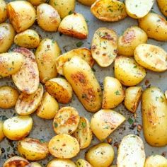 Garlic Ranch Potatoes - The best and easiest way to roast potatoes with garlic and ranch. After this, you