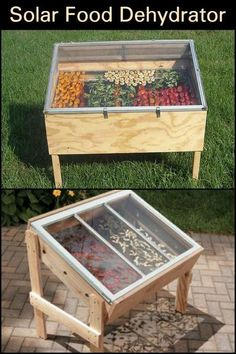 Solar Food Dehydrator # garden design Enjoy sipping dehydrated fruit and . - Solar food dehydrator Do you like to sip dehydrated fruit and vegetables for snac - Food Dryer, Dehydrator Recipes, Homestead Survival, Survival List, Survival Stuff, Survival Skills, Diy Solar, Solar Oven Diy, Preserving Food