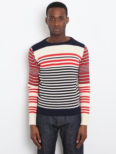 ...Alexander McQueen Men's Striped Knit. Liking the stripes.