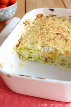 Lasagnes de ravioles au chèvre et aux poireaux - Les Haricots diaboliques