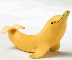 Banana dolphin--I think I need to have a party just to make these things.