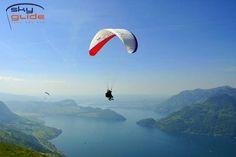 SkyGlide bietet bei Flugwetter täglich Gleitschirmpassagierflüge in der Zentralschweiz an. Weitere Infos: www.skyglide.ch