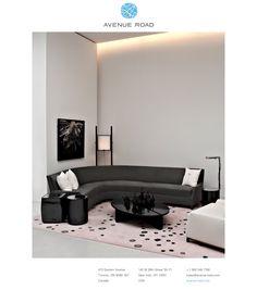 perry street boomerang sofa by YABU PUSHELBERG Yabu Pushelberg, Large Sofa, Sofa Chair, Interior Design Living Room, Home And Living, Bookshelves, Upholstery, Lounge, Furniture
