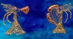 Goldwork   Christmas Angels.3cm  Made by MagpieGoldwork