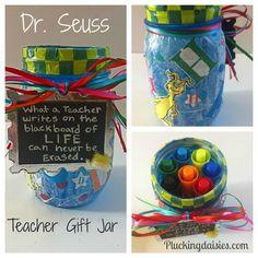 Dr. Seuss Teacher Gift Mason Jar Pluckingdaisies.com