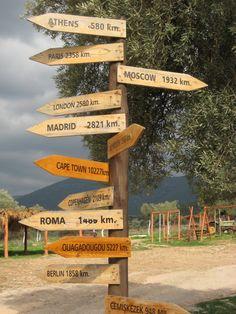Signpost near Iasos