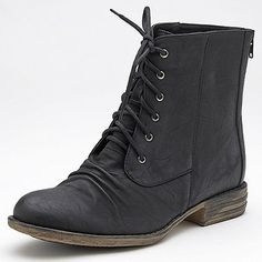 Mariot Lace-up Ankle Boots - Black