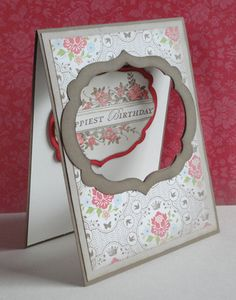 Apothecary Art Window Card by Stamping Ginger - Cards and Paper Crafts at… Cool Cards, Diy Cards, Window Cards, Beautiful Handmade Cards, Stamping Up Cards, Folded Cards, Creative Cards, Greeting Cards Handmade, Scrapbook Cards