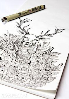 alisaburke: un vistazo dentro de mi cuaderno de bocetos