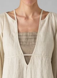 Linen Lightweight Poncho Oat...I know...the V, but love the cream on taupe