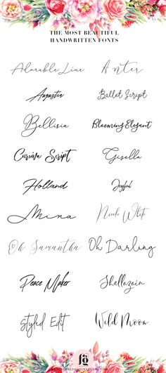 18 FREE calligraphy fonts for you blog or business via
