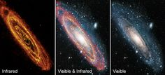 The Andromeda Galaxy in the infrared and visible
