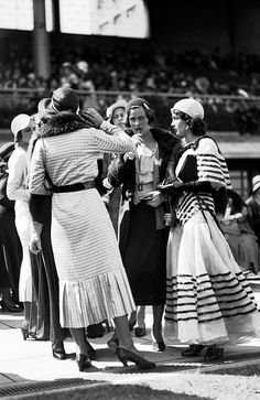 1940s: Fashions at the Melbourne Cup. Picture: Herald Sun Image Library Fashion-conscious