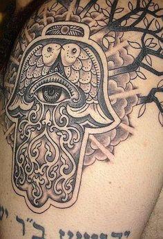 Hamsa tattoo.