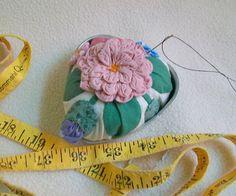 Eco Friendly Pincushion Vintage UpCycled Tin Heart by sammysgrammy, $12.00