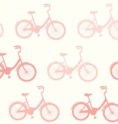 Pink bicycle pattern vector by Favete on VectorStock®