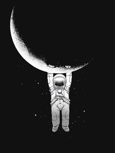 Art print more cosmos, astronaut illustration Art And Illustration, Astronaut Illustration, Design Illustrations, Stars And Moon, Cool Art, Art Drawings, Art Photography, Artsy, Sketches