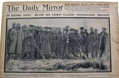 The cover of the Daily Mirror showing the news of the truce between British and German soldiers during Christmas, 1914.