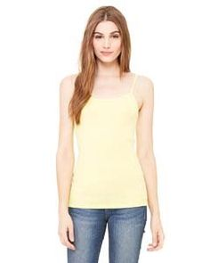 f3b6c89052b Bella Womens 58 oz Cotton Baby Rib Spaghetti Strap Tank Top 2XL YELLOW      Find out more about the great product at the image link.Note It is  affiliate link ...