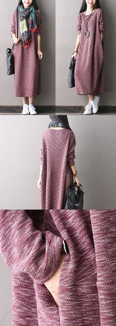 Stretch Cotton Knit Dress-B