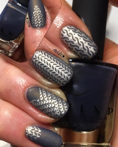 Check this out!!! Can't get over these awesome nails by @nailsbyhedda from Instagram. _________________________________________________ Getting back to knitting!! So much fun! Started on one sweather and have two more planed before this winter is over! @ilnpbrand #ilnptheboulevard stamped with @mundodeunas #mdulightgold @messymansion MM40 @creativeshopstamping 04 and @moyou_london #moyoulondonfashionista02 #knittingnailart #nailart #ilnp #mundodeunas #mdu #messymansion #creativeshopstamping…
